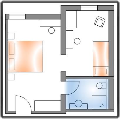 Hotelzimmer: Slalom