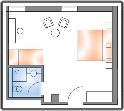 Hotelzimmer: Baumklettern