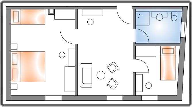 Apartment: Klettern und Abseilen