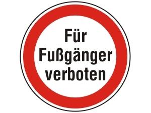 Fußgänger-verboten
