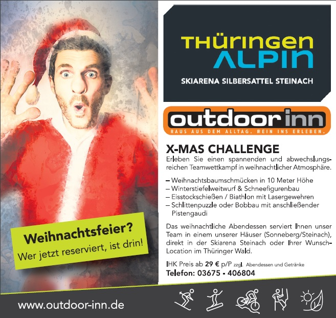 Beitrag Zur Weihnachtsfeier.Ihre Weihnachtsfeier 2018 Outdoor Inn Thüringer Wald